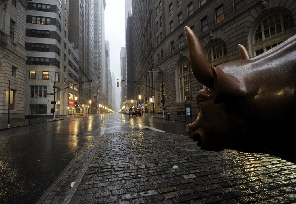 The Wall Street bronze Bull