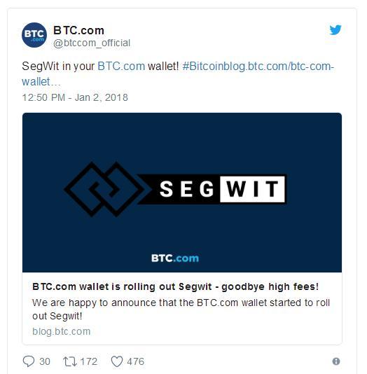 Комиссии в сети биткоина падают по мере роста поддержки SegWit