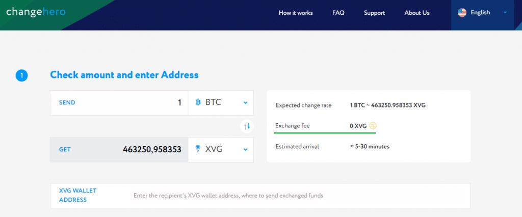 Биржа ChangeHero внедрила функцию приобретения Verge c помощью банковских карт