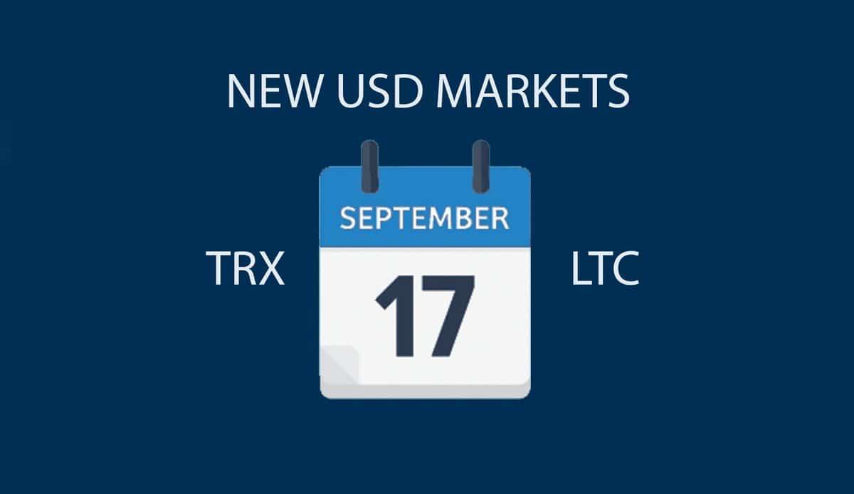 Биржа Bittrex добавит долларовые рынки для торговли TRON и Litecoin