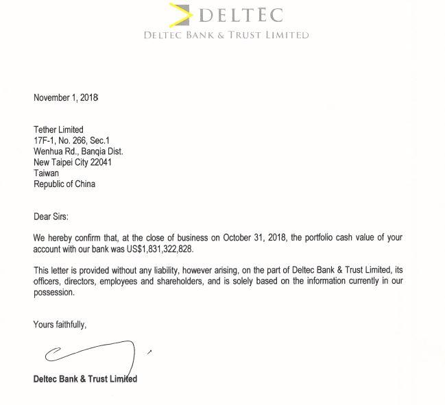 В Tether подтвердили состоятельность, раскрыв банковского партнера – Deltec Bank (Багамы)