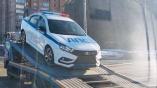 Полицейская LADA Vesta Sport замечена в Москве