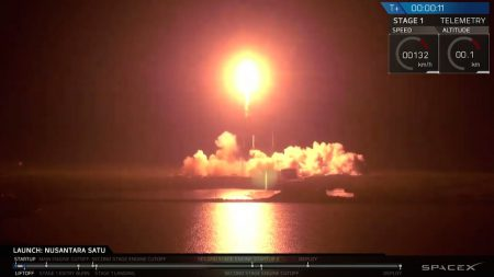 SpaceX осуществила свою 70-ю миссию в рамках очередного третьего повторного запуска Falcon 9, выведя на орбиту первый (частный!) израильский лунный зонд