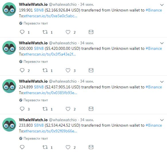 Пользователи Binance обсуждают крупные переводы между кошельками биржи рис 3