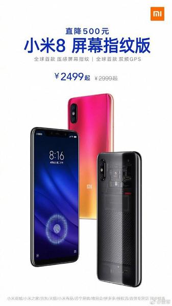 Xiaomi существенно опустила цену на прошлогодний флагман Xiaomi Mi 8 Pro с подэкранным сканером отпечатков пальцев рис 2