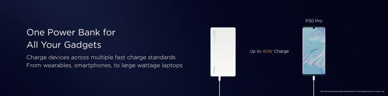 40-ваттный портативный аккумулятор Huawei емкостью 12 000 мА·ч подходит и для зарядки ноутбуков, но стоит 100 евро рис 4