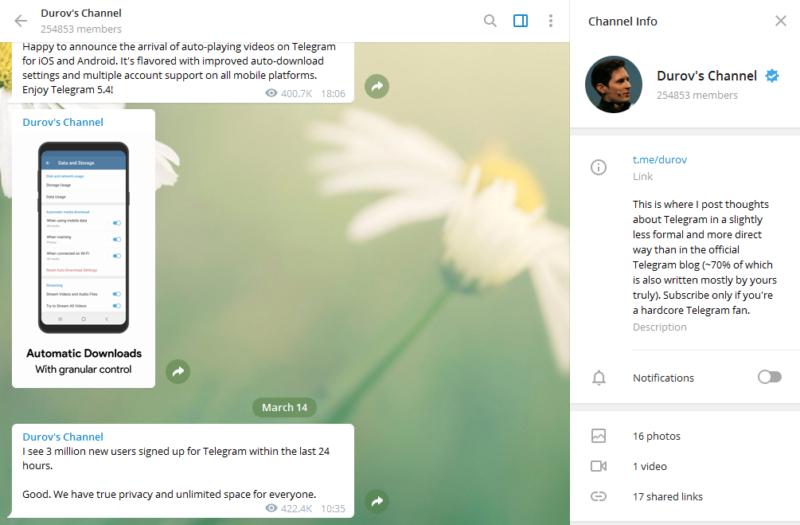 3 млн новых пользователей в Telegram