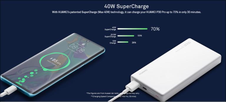 40-ваттный портативный аккумулятор Huawei емкостью 12 000 мА·ч подходит и для зарядки ноутбуков, но стоит 100 евро рис 2