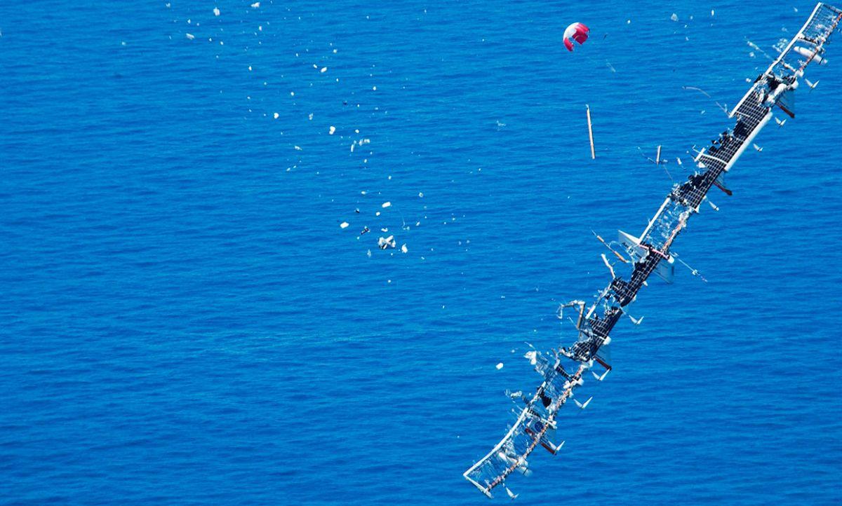 Крушение Helios в Тихом океане / © NASA