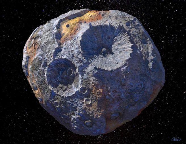Астероид (16) Психея в представлении художника / © Arizona State University