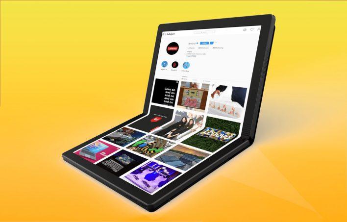 Lenovo представила первый ноутбук со складным дисплеем