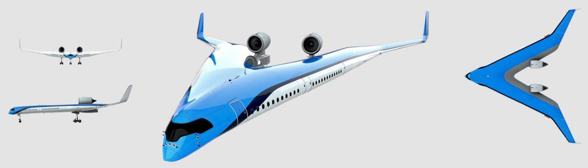V-образный авиалайнер должен потреблять на 20 процентов меньше топлива / ©Studio OSO, TU Delft
