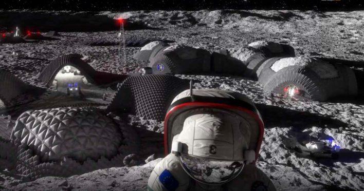 Ученые создают «лунные кирпичи»
