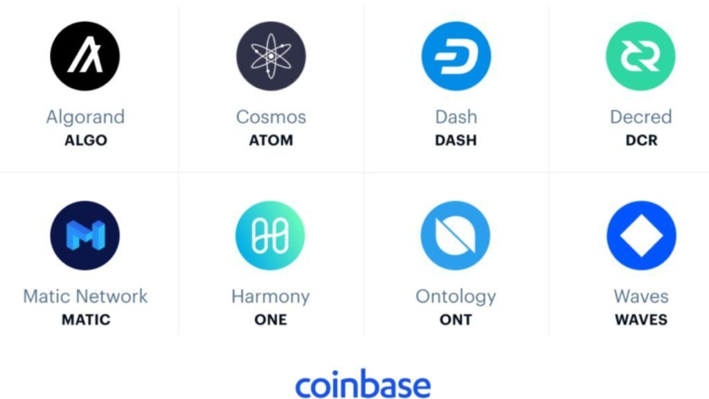 Биржа Coinbase добавит 8 токенов на свою платформу
