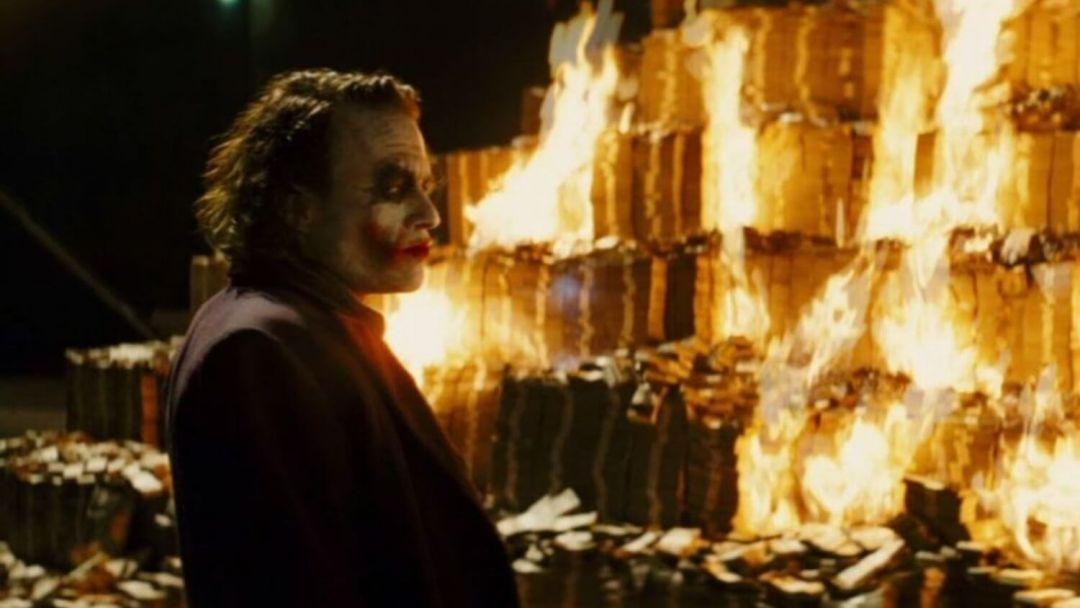 Джокер деньги пожар