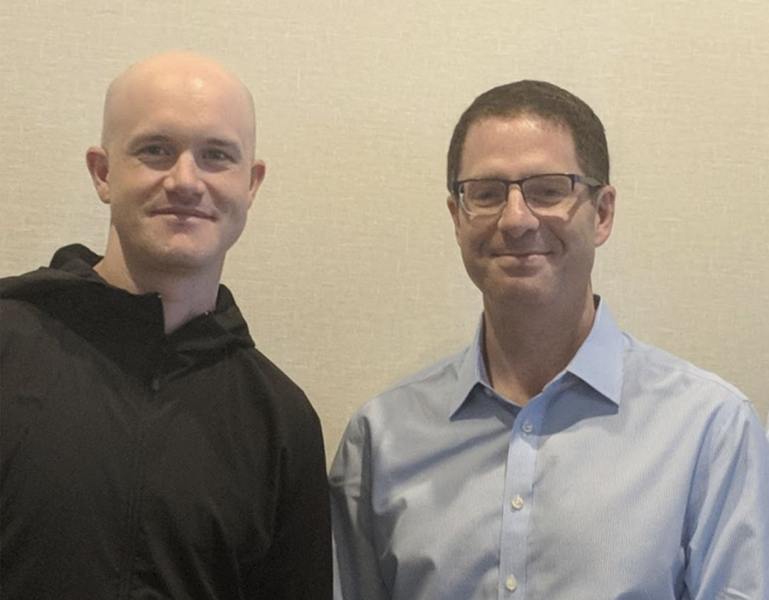 Брайан Брукс (справа) и CEO Coinbase Брайан Армстронг.