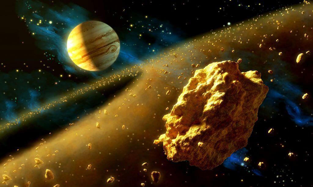 золото космос астероид