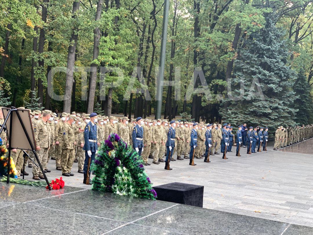 В Харькове прощаются с погибшим курсантом